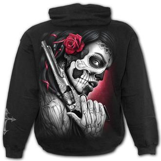 sweat-shirt avec capuche pour hommes - DEATH PISTOL - SPIRAL, SPIRAL