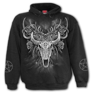 sweat-shirt avec capuche pour hommes - HORNED SPIRIT - SPIRAL, SPIRAL
