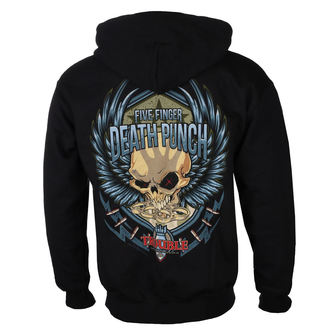 sweat-shirt avec capuche pour hommes Five Finger Death Punch - Trouble - ROCK OFF, ROCK OFF, Five Finger Death Punch