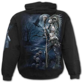 sweat-shirt avec capuche pour hommes - RAVEN QUEEN - SPIRAL, SPIRAL