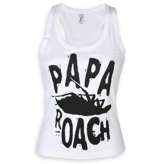 Débardeur femme Papa Roach - Classic Logo - blanc - KINGS ROAD, KINGS ROAD, Papa Roach