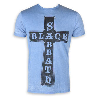 tee-shirt métal pour hommes Black Sabbath - Burnout Mid Blue - ROCK OFF, ROCK OFF, Black Sabbath