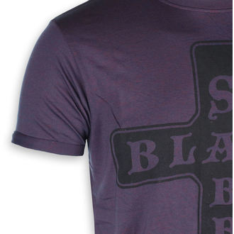 tee-shirt métal pour hommes Black Sabbath - Burnout Navy/Red - ROCK OFF, ROCK OFF, Black Sabbath