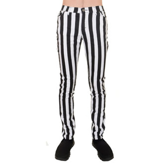 pantalon pour hommes 3RDAND56th - Stripe Skinny - Blk / wht, 3RDAND56th