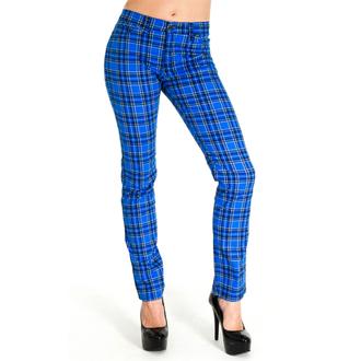 pantalon pour (unisex) 3RDAND56th - Tartan Skinny Jeans - Bleu / Tartan, 3RDAND56th