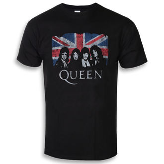 tee-shirt métal pour hommes Queen - Union Jack - ROCK OFF, ROCK OFF, Queen