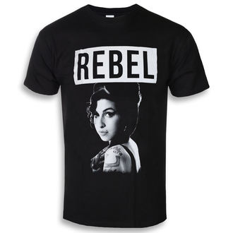 tee-shirt métal pour hommes Amy Winehouse - Rebel - ROCK OFF, ROCK OFF, Amy Winehouse