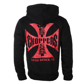 sweat-shirt avec capuche pour hommes - RED OG CROSS - West Coast Choppers, West Coast Choppers