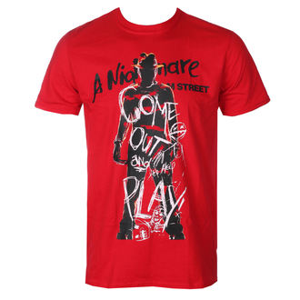 tričko pánské Noční můra z Elm Street - Freddy Krueger - Come Out And Play - Red - HYBRIS, HYBRIS, Les griffes de la nuit