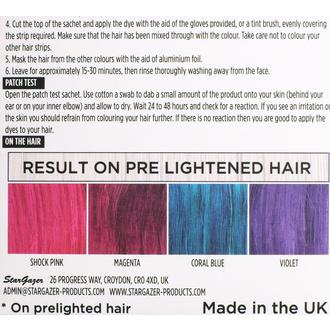Couleurs de cheveux STAR GAZER - Yummy Colour 4 Colour Strips Kit - Vif, STAR GAZER
