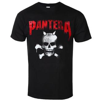 tee-shirt métal pour hommes Pantera - Horned Skull Stencil - ROCK OFF, ROCK OFF, Pantera