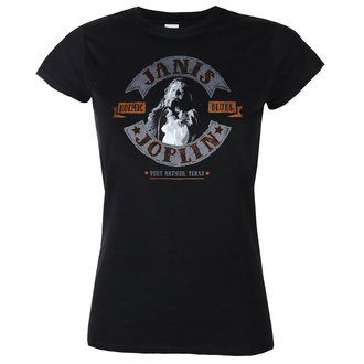 tee-shirt métal pour femmes Janis Joplin - KOZMIC BLUES - LIQUID BLUE, LIQUID BLUE, Janis Joplin