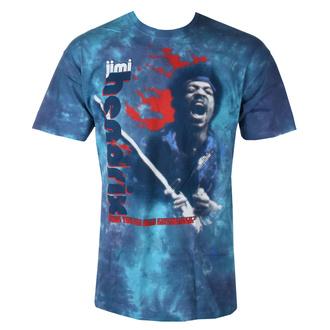 tee-shirt métal pour hommes Jimi Hendrix - FIRE - LIQUID BLUE, LIQUID BLUE, Jimi Hendrix