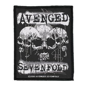Patch Avenged Sevenfold - 3 Skulls - RAZAMATAZ, RAZAMATAZ, Avenged Sevenfold