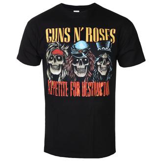 tee-shirt métal pour hommes Guns N' Roses - AFD SKULLS BLK - BRAVADO, BRAVADO, Guns N' Roses
