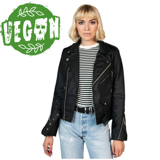Veste motard (biker) pour femme STRAIGHT TO HELL - Vegan Commando II - Noir, STRAIGHT TO HELL