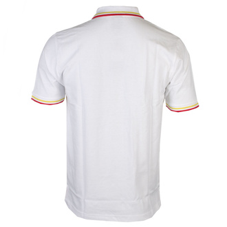 T-shirt hommes David Bowie - Flash - Logo Uni - Polo blanche - ROCK OFF, ROCK OFF, David Bowie