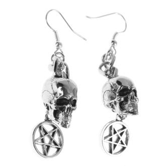 Boucles d'oreilles Crâne / Pentagram, FALON