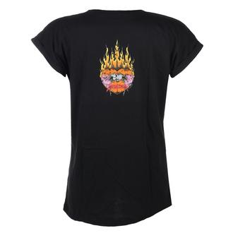 T-shirt pour femmes Metallica - Flower Skull - Rose Logo - Noir, NNM, Metallica
