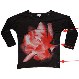 T-shirt pour femmes à manches longues Innocent lifestyle - MARLOWE - NOIR - ENDOMMAGÉ, INNOCENT LIFESTYLE