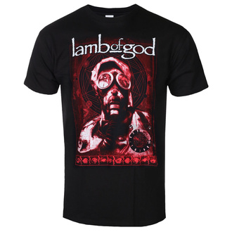 T-shirt Lamb Of God pour hommes - Gas Mask Waves - ROCK OFF, ROCK OFF, Lamb of God