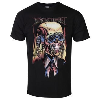 T-shirt pour hommes Megadeth - Flaming - ROCK OFF, ROCK OFF, Megadeth