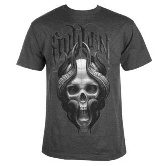 T-shirt pour hommes SULLEN - STEPAN NEGUR SKULL- CHARCOAL HEATHER, SULLEN
