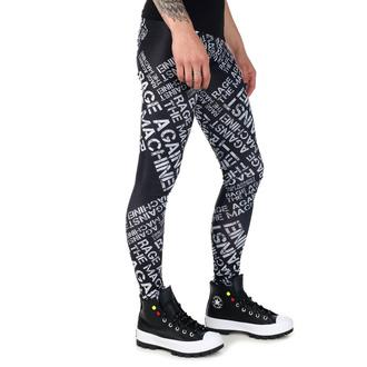 Pantalon (leggings) pour femmes Rage Against The Machine - Logo - Noir blanc - PAMELA MANN, PAMELA MANN, Rage against the machine