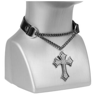 Collier/ ras de cou Cross, Leather & Steel Fashion