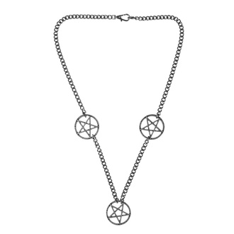 Collier Pentacle, Leather & Steel Fashion