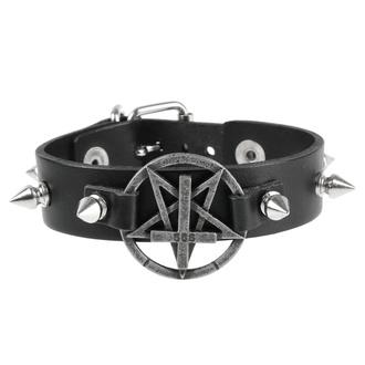 Bracelet Pentacle, Leather & Steel Fashion