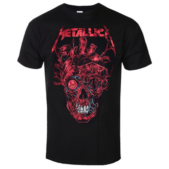 T-shirt pour hommes Metallica - Heart Skull - ROCK OFF - METTS40MB03