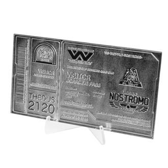 Décoration Alien - Réplique Billet Nostromo Edition Limitée (argent plaqué), NNM, Alien - Le 8ème passager