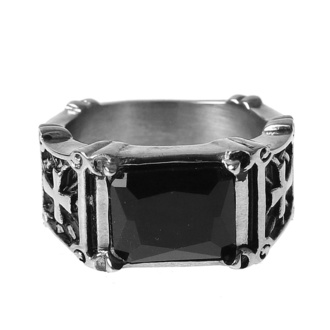 Bague ETNOX - black zirconia, ETNOX