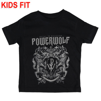 T-shirt pour enfants Powerwolf - Crest - Metal-Kids, Metal-Kids, Powerwolf