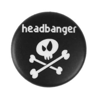 Badge petit Headbanger - Metal-Kids, Metal-Kids