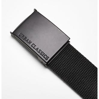 ceinture URBAN CLASSICS - Coloured Buckle Canvas - noir, URBAN CLASSICS