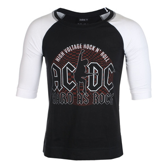 T-shirt unisexe à manches 3/4 AC / DC - Hard As Rock - BL / WHT Raglan - ROCK OFF, ROCK OFF, AC-DC