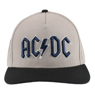 Casquette AC DC - Navy Logo - Beige / BL - ROCK OFF, ROCK OFF, AC-DC