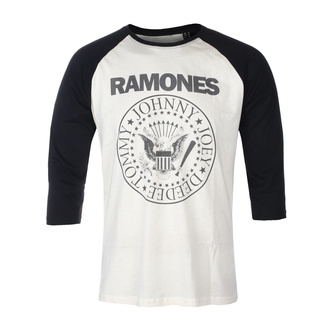 T-shirt pour hommes manches 3/4 RAMONES - CLASSIC LOGO - ECRU / NOIR RAGLAN2 - GOT TO HAVE IT, GOT TO HAVE IT, Ramones