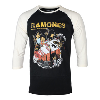 T-shirt à manches 3/4 pour hommes RAMONES - ROCKET CARTOON - NOIR / ECRU RAGLAN - GOT TO HAVE IT, GOT TO HAVE IT, Ramones