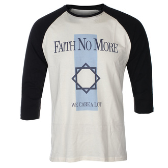 T-shirt à manches 3/4 pour hommes FAITH NO MORE - WE CARE A LOT - ECRU / NOIR RAGLAN - GOT TO HAVE IT, GOT TO HAVE IT, Faith no More