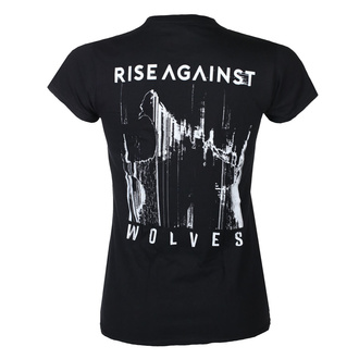 T-shirt pour hommes Rise Against - Wolves Pocket Girl Fitted - Noir - KINGS ROAD, KINGS ROAD, Rise Against