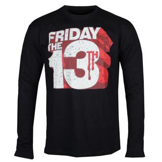 T-shirt à manches longues Friday The 13th - Block Logo - Noir - HYBRIS, HYBRIS, Friday the 13th