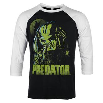 T-shirt à manches 3/4 pour hommes Predator - Baseball - Blanc noir - HYBRIS, HYBRIS, Predator