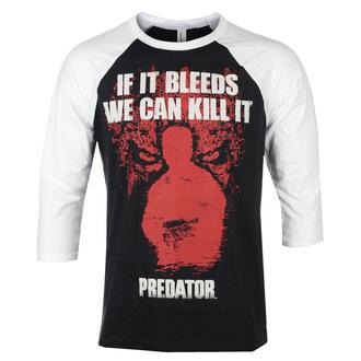 T-shirt à manches 3/4 pour hommes Predator - If It Bleeds - Base-ball - Blanc noir - HYBRIS, HYBRIS, Predator