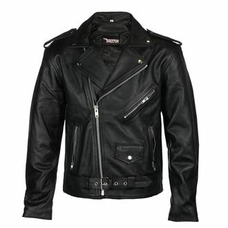 Veste en cuir (double rider) - BRIXTON - BRIX001 - ENDOMMAGÉ - BH096