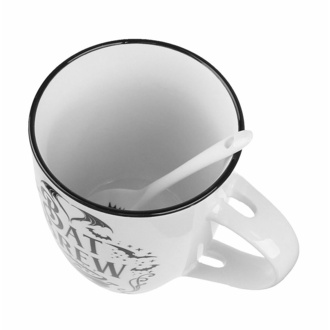 Mug avec cuillère ALCHEMY GOTHIC - Bat, ALCHEMY GOTHIC