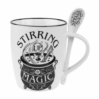 Mug avec cuillère ALCHEMY GOTHIC - Stirring Up Magic, ALCHEMY GOTHIC