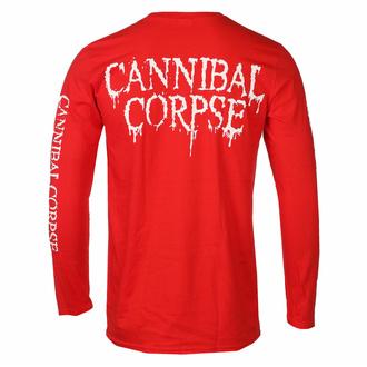 T-shirt pour hommes à manches longues CANNIBAL CORPSE - PILE OF SKULLS - ROUGE - PLASTIC HEAD, PLASTIC HEAD, Cannibal Corpse